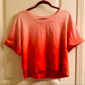 ATKO Orange/pink ombré shirt